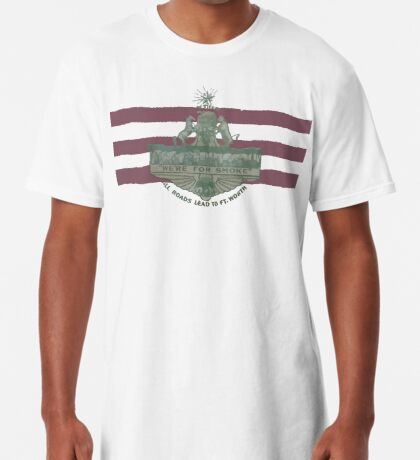 1912 Fort Worth Flag - We're For Smoke - All Roads Lead to Ft. Worth (Recolored) Long T-Shirt