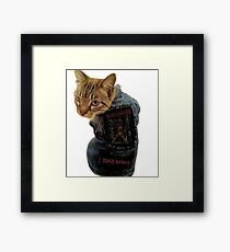 Iron Maiden Cat Framed Print