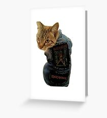 Iron Maiden Cat Greeting Card