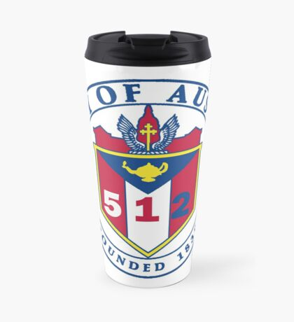 City of Austin Seal with 512 Area Code Travel Mug