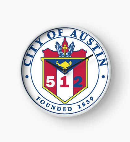 City of Austin Seal with 512 Area Code Clock