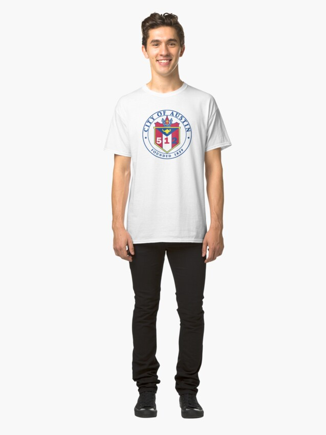 Alternate view of City of Austin Seal with 512 Area Code Classic T-Shirt