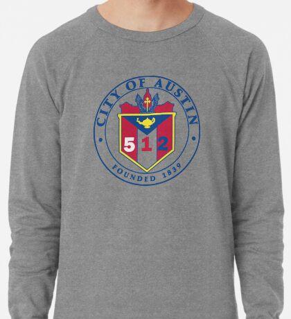 City of Austin Seal with 512 Area Code Lightweight Sweatshirt