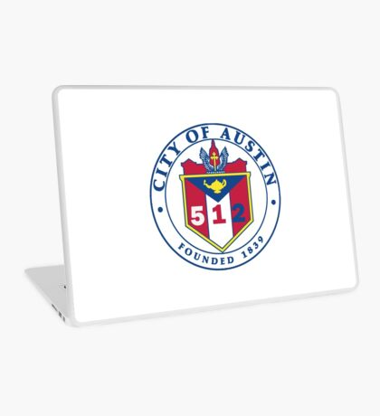 City of Austin Seal with 512 Area Code Laptop Skin