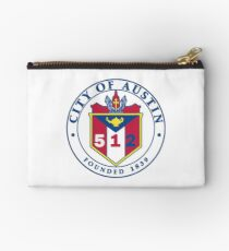 City of Austin Seal with 512 Area Code Zipper Pouch