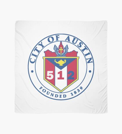 City of Austin Seal with 512 Area Code Scarf