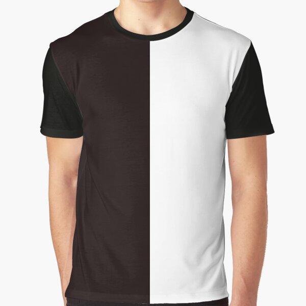 Half Black Half White Mini Skirt Graphic T-Shirt