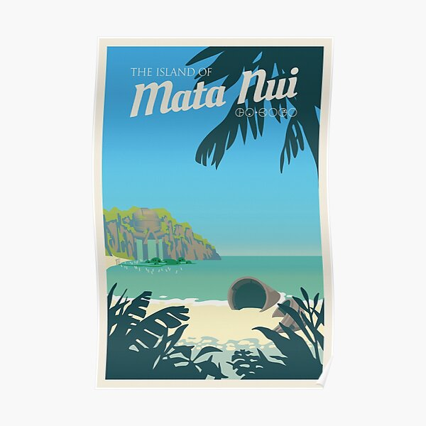 Bionicle Mata Nui Travel Poster Poster