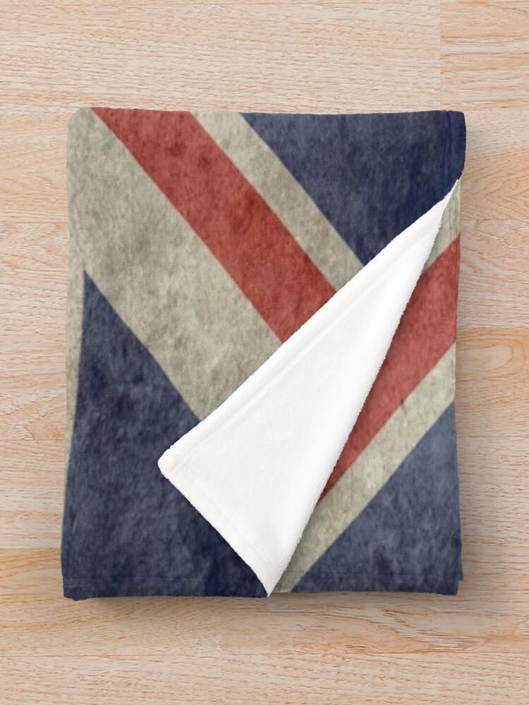 Alternate view of Union Jack Throw Blanket - Warm Winter Blanket with UK Flag Throw Blanket