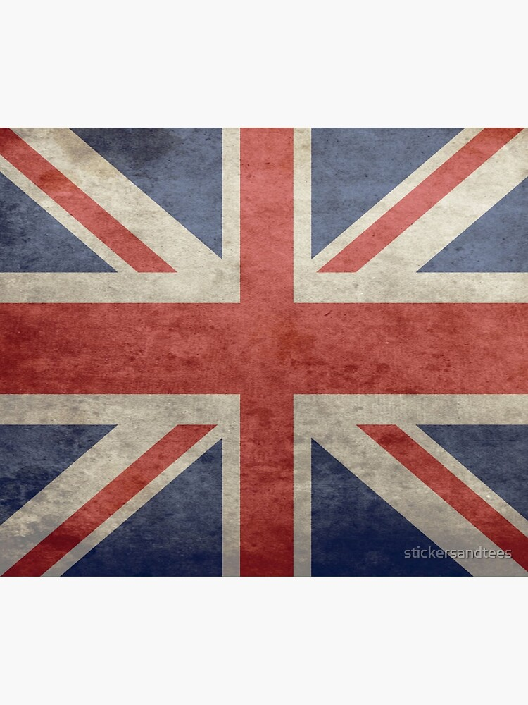 Union Jack Throw Blanket - Warm Winter Blanket with UK Flag by stickersandtees