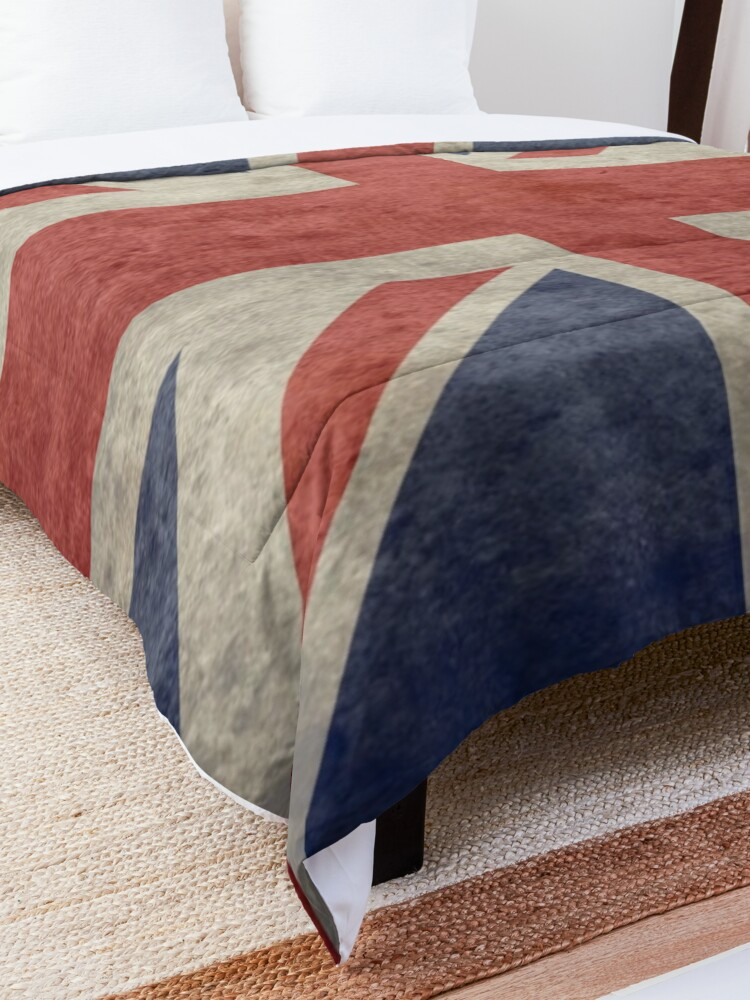 Alternate view of Union Jack Throw Blanket - Warm Winter Blanket with UK Flag Comforter