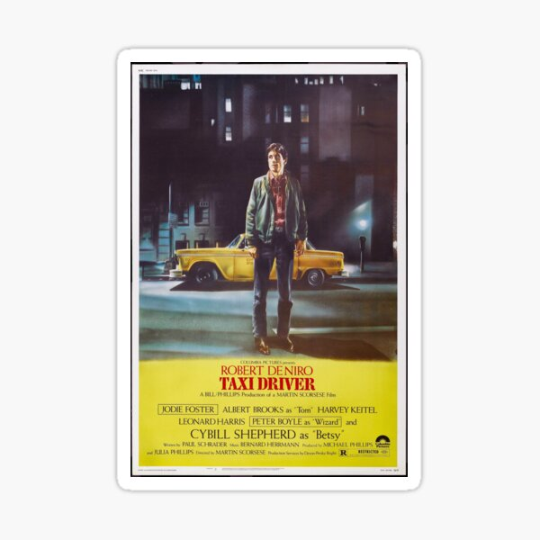 Taxi Driver Poster Artwork for Prints, Posters, Postcards, Tshirts, Bags, Men, Women Sticker