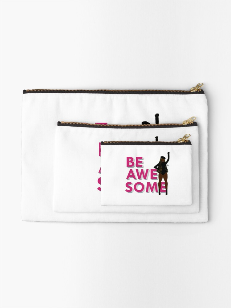 Alternate view of Be awesome  Zipper Pouch