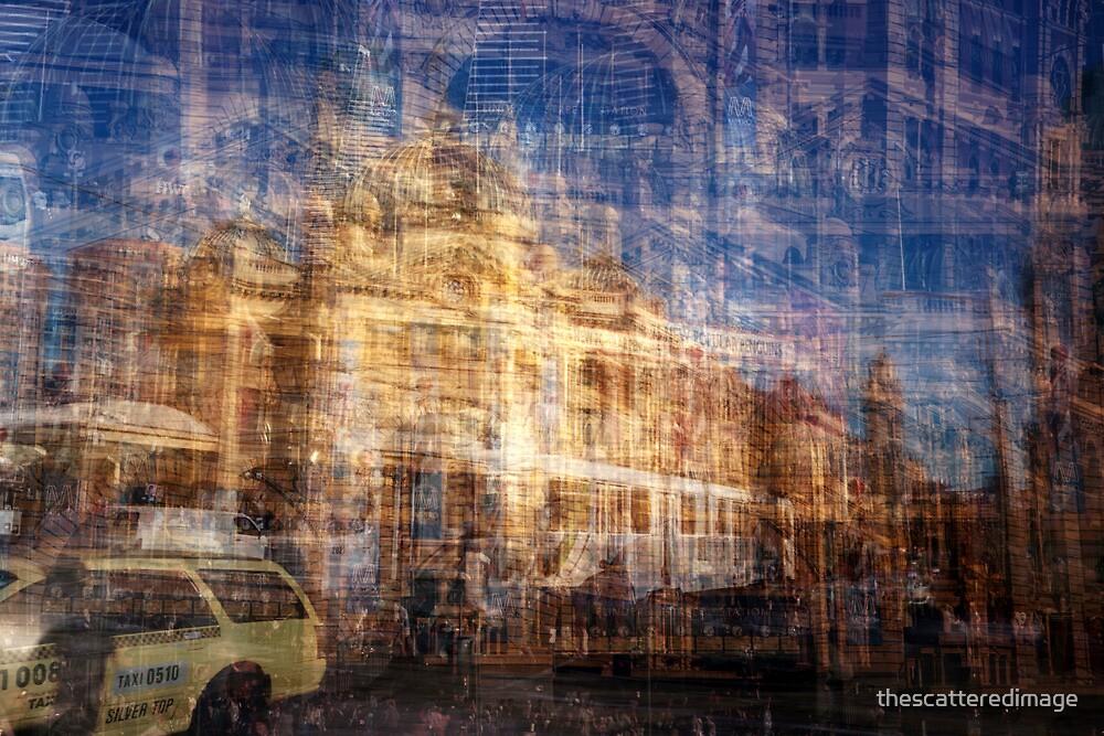 Flinders Street Station, Melbourne by thescatteredimage