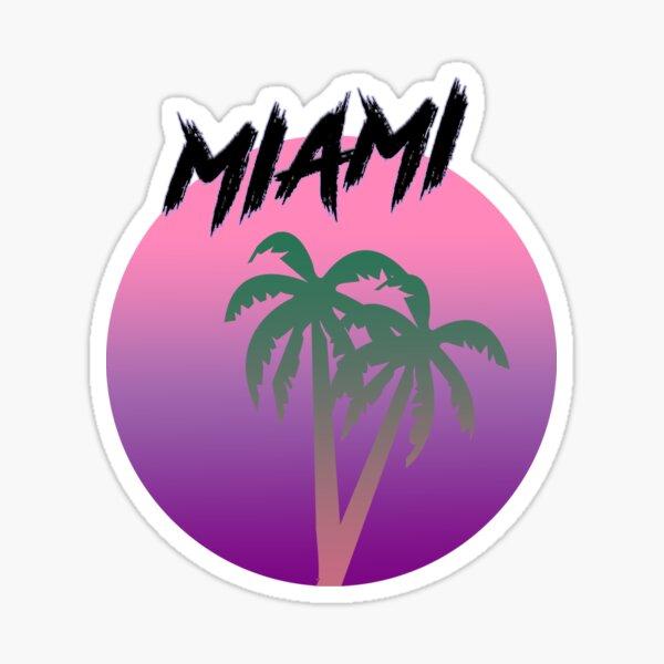 miami - retro design  Sticker