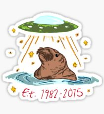 E.T. the Walrus Sticker