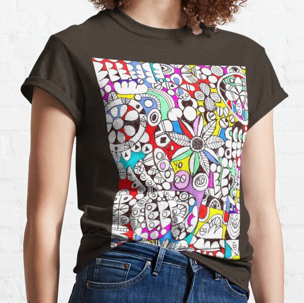 Flower Power (psychedelic abstract art) Classic T-Shirt