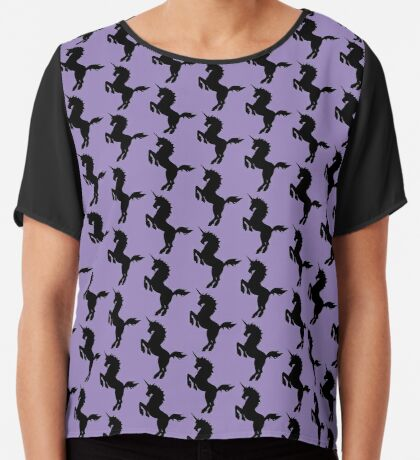 Unicorn Silhouette Chiffon Top