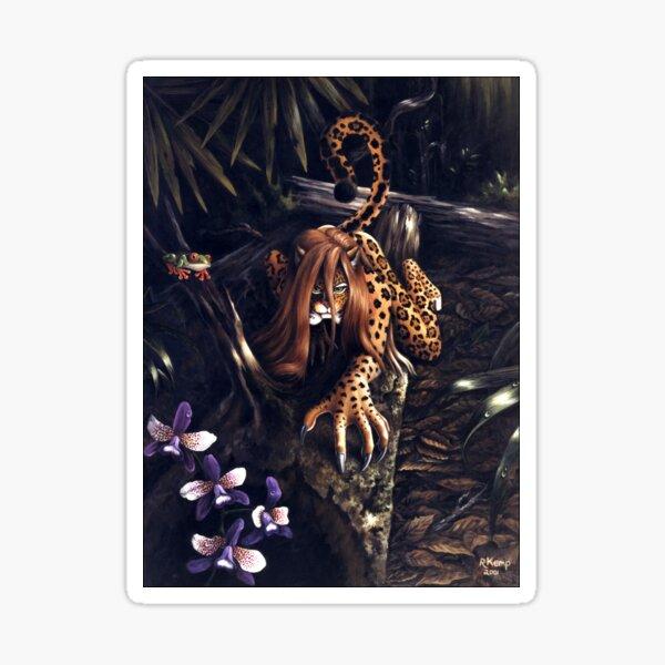 Makin' the Rounds - jaguar woman Sticker