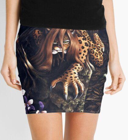 Makin' the Rounds - jaguar woman Mini Skirt