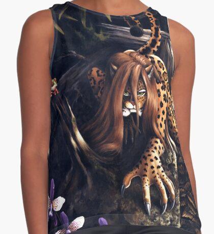 Makin' the Rounds - jaguar woman Sleeveless Top