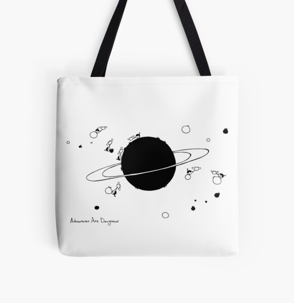 Cows on Saturn All Over Print Tote Bag