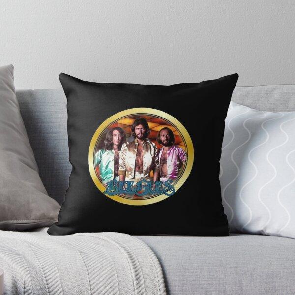 Vintage 1970's Bee Gees Custom Throw Pillow