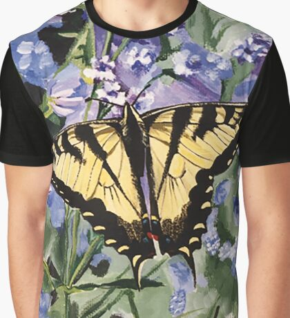 Yellow Swallowtail Butterfly Graphic T-Shirt