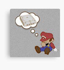 Mario Dreams of Dreamcast Canvas Print