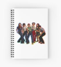 That 70s Show The Gang Tie Dye Spiral Notebook