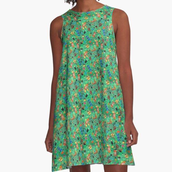 Trader Sam's Tiki Bar A-Line Dress