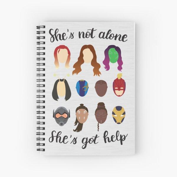 She's got help Spiral Notebook