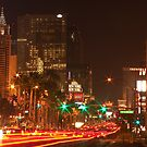 Las Vegas Traffic on New Year's Eve 2009 by Henry Plumley