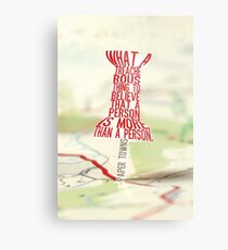 More than a person Typography (Paper Towns 3 of 7) Metal Print