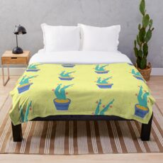 Cactus legs Throw Blanket