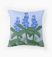 Watercolor Blue Bonnet Throw Pillow