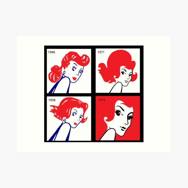 History of the Redheads Matches Girl Art Print