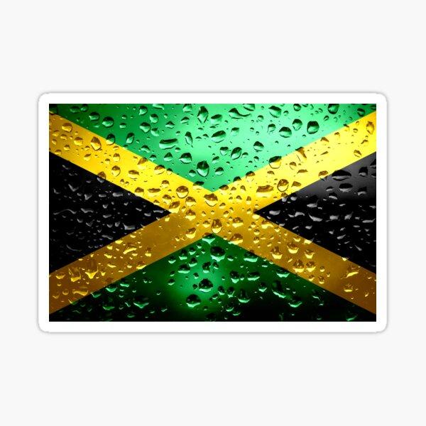 Flag of Jamaica - Raindrops Sticker