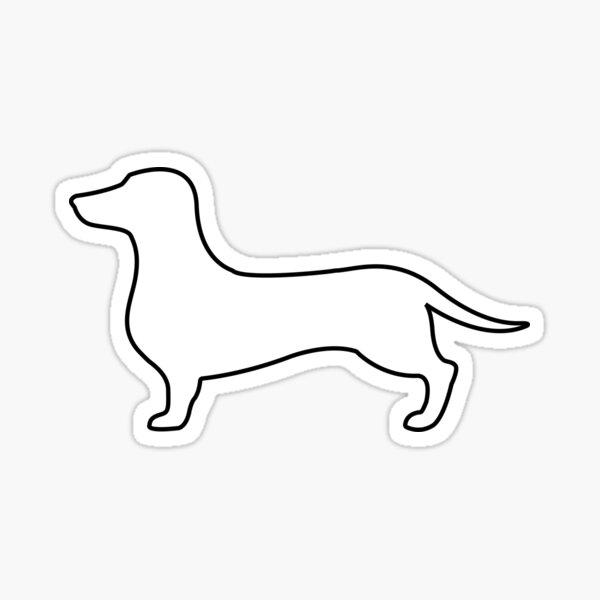 Dachshund, Wiener Dog Silhouette Sticker