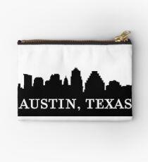 Austin, Texas City Skyline Silhouette  Zipper Pouch