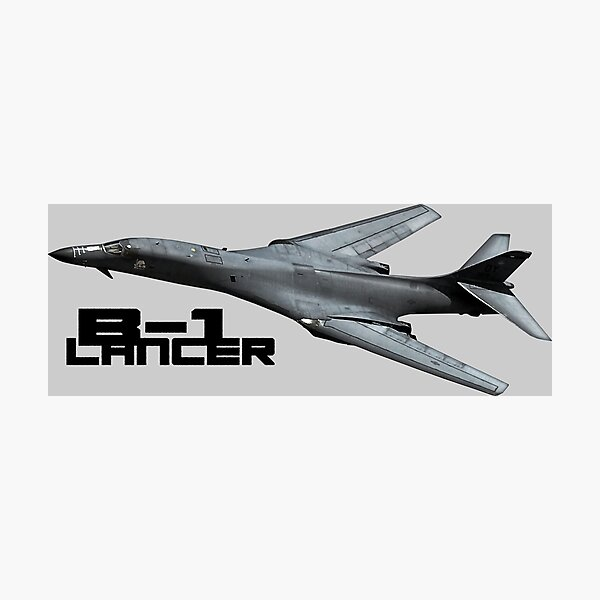 Designer T Shirts for Men with USAF B-1 Lancer Aircraft Image All Over Print