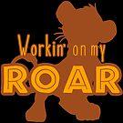 Lion King - Working on my Roar - tan and gold by Unicornarama