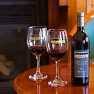 Merlot by the fire by Di Jenkins
