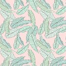 Banana Leaves Pattern by LabelsArts