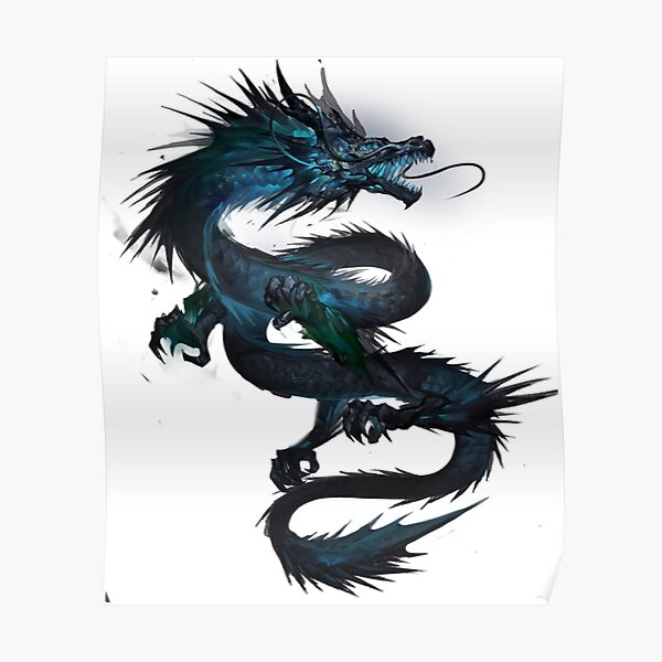 Chinese Dragon Tattoo T-Shirt for Dragon Lover Poster