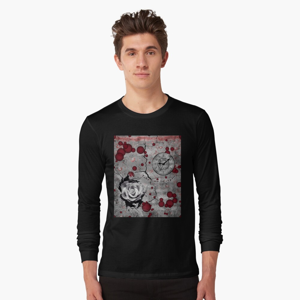 Trash Polka No 12. Digital Collage  Long Sleeve T-Shirt
