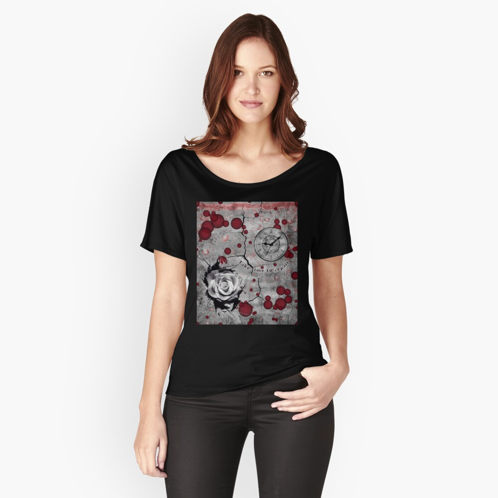 Trash Polka No 12. Digital Collage  Relaxed Fit T-Shirt