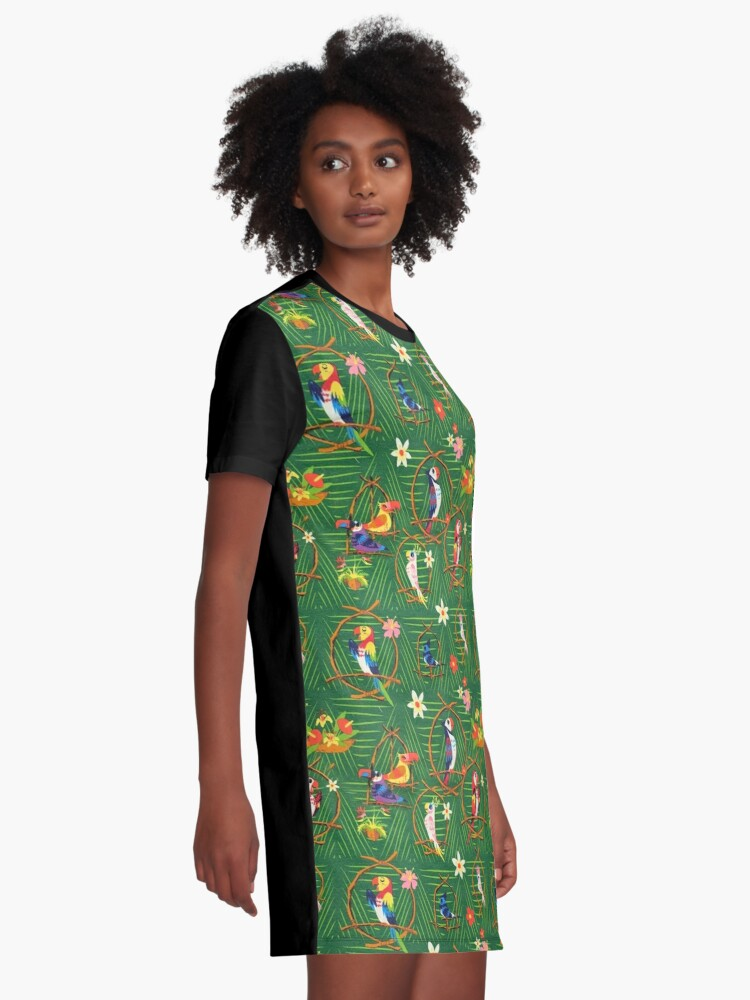 Alternate view of Enchanted Tiki Room Graphic T-Shirt Dress
