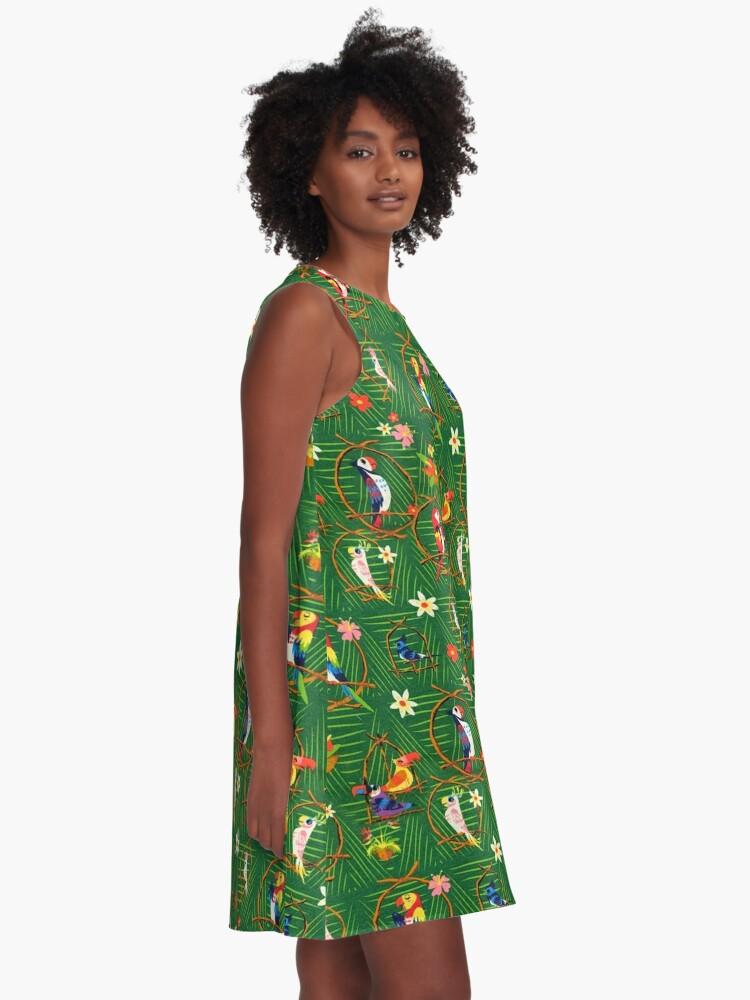 Alternate view of Enchanted Tiki Room A-Line Dress
