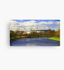 The Yarra River and The MCG, Melbourne. Canvas Print